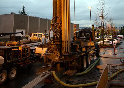 Powerful and versatile truck-mounted Versa Drill V-100 drilling rig.