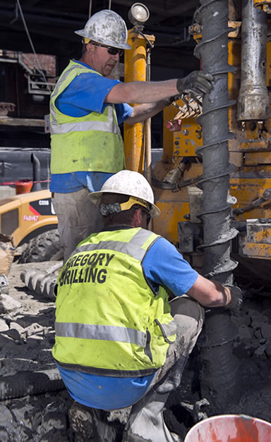 Carefully extracting tooling from hole after instrumentation installation.