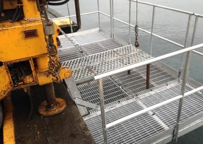 """A closer look at our new, custom-built platform for """"over the edge"""" drilling."""